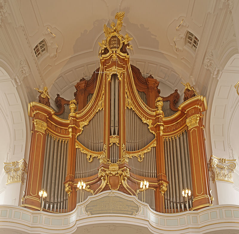 Orgel im Hamburger Michel, Foto: Erich Volland